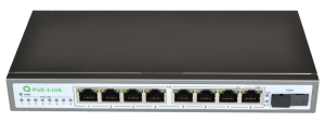 10/100 Мбит PoE Switch PL-981GS-FA с 1 оптическим портом и 8 портов PoE 96 Ватт